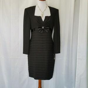 VINTAGE BLACK CREPE  COCKTAIL DRESS